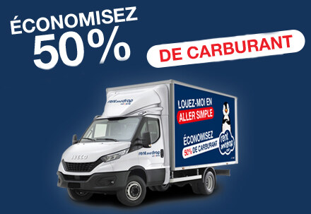50% de réduction de carburant en aller simple